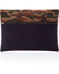 Vanities Camouflage Flannel Clutch Bag - Lyst