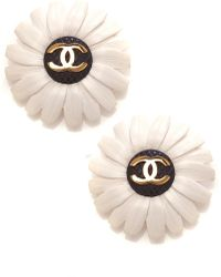 Carole Tanenbaum - Chanel Floral Earrings - Lyst