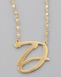 Lana Jewelry 14k Gold Letter Necklace - Lyst