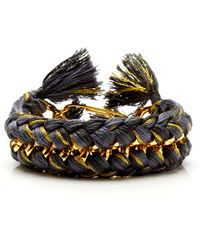 Aurelie Bidermann Do Brasil Charbon Double Braided Bracelet - Lyst