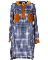 B Store Short Dress blue - Lyst