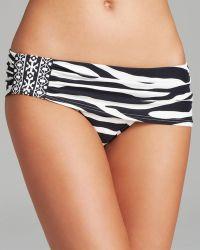 Carmen Marc Valvo - Wild Stripe Shirred Skirted Bikini Bottom - Lyst