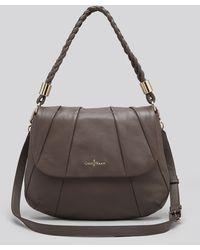 Cole Haan Shoulder Bag Adele Jenna Pleated - Grey