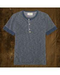 Denim & Supply Ralph Lauren Shortsleeved Striped Henley - Lyst