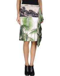 Dries Van Noten Knee Length Skirt - Lyst