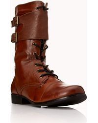 Forever 21 Standout Combat Boots - Brown