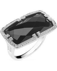 Ivanka Trump - Patras 18k Horizontal Black Onyx Ring with Deco Diamonds - Lyst