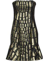 Jay Ahr Short Dress gold - Lyst