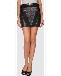 Jen Kao Leather Skirt - Lyst