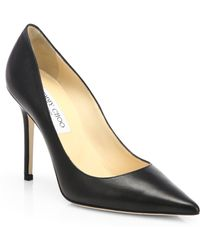 Jimmy Choo Abel Leather Pumps - Lyst