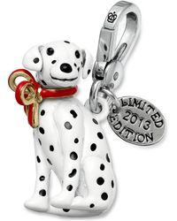 Juicy Couture Silvertone Limited Edition Dalmatian Charm - Black