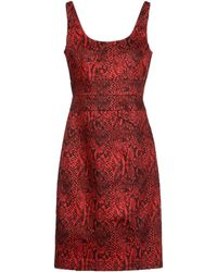 MICHAEL Michael Kors Sleeveless Plain Weave Short Dress - Lyst