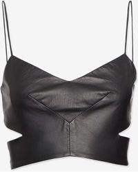 Nicholas - Cut Out Leather Bra Top - Lyst