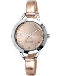 Nine West - Ladies Twotone Watch with Metallic Strap - Lyst