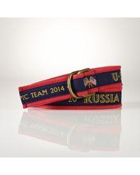 Polo Ralph Lauren Team Usa Belt - Lyst