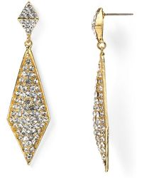 R.j. Graziano Holiday Pointed Drop Earrings - Metallic