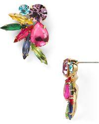 R.j. Graziano Colour Luxe Cluster Stud Earrings - Multicolour
