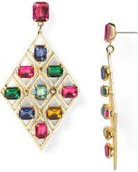 R.j. Graziano Color Luxe Statement Earrings - Multicolor
