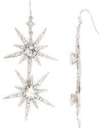 R.j. Graziano Holiday Star Drop Earrings - Metallic