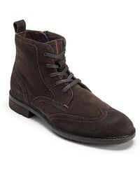 Tommy Hilfiger Suede Ankle Boot - Lyst