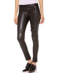 A.L.C. Cannova Moto Leather Pants - Lyst