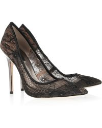 BCBGMAXAZRIA - Opia Lace and Leather Court Shoes - Lyst