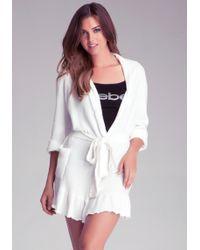 Bebe - Chenille Ruffled Robe - Lyst