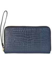 Bellebas Zip Wallet Bas Blue - Lyst