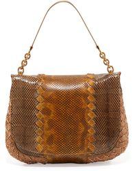 Bottega Veneta Small Snake Flap Shoulder Bag Multi - Lyst