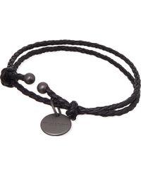 Bottega Veneta Black Woven Bracelet - Lyst