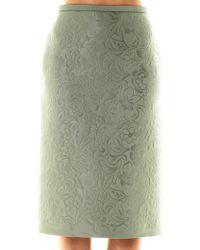 Burberry Prorsum - Embossed Pencil Skirt - Lyst