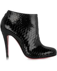 christian louboutin belle zeppa 100 suede ankle boots
