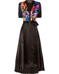 Duro Olowu Printed Silk Dress - Black