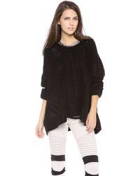 Enza Costa Oversized Crew Neck Sweater - Lyst