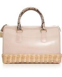 Furla Candy Straw Bauletto Bag - Pink