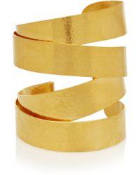 Herve Van Der Straeten - Hammered Goldplated Cuff - Lyst