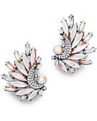 Jenny Packham Icarus Clip On Earrings I - Gray