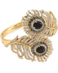 Juicy Couture - Pave Feather Drama Bangle Bracelet - Lyst