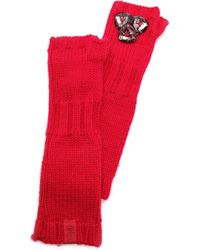 Juicy Couture - Chunky Jewel Mittens - Lyst