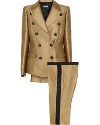 Just Cavalli Satin Suit - Metallic