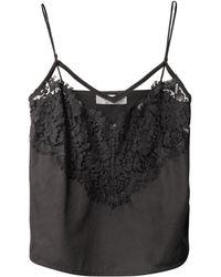 Lover - Lace Trim Cotton Camisole - Lyst