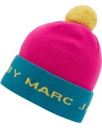 Marc By Marc Jacobs - Pink and Yellow Logo Ski Hat - Lyst