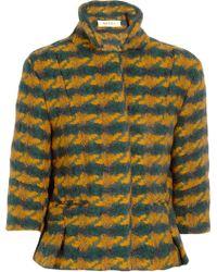 Marni Woven Wool Blend Jacket - Lyst