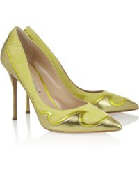 Nicholas Kirkwood Wave Metallic Leather and Suede Pumps - Lyst