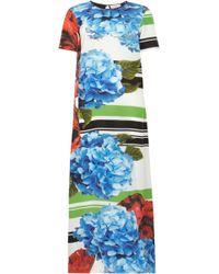 Preen By Thornton Bregazzi Wyatt Printed Silk Crepe De Chine Maxi Dress - Lyst