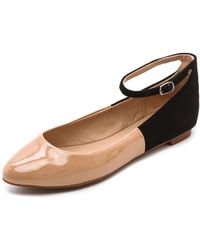 Splendid Isabel Ankle Strap Flats - Black