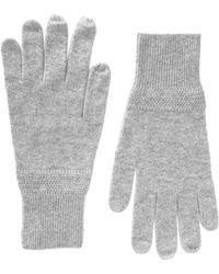 Splendid Cashmere Gloves - Gray
