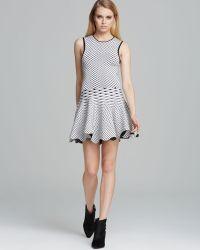 Torn By Ronny Kobo Dress Liza Geo Knit - Black