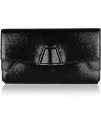 Alexander Wang Trifold Texturedleather Clutch - Black