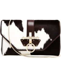 Givenchy Obsedia Ponyskin and Leather Clutch Bag - Lyst